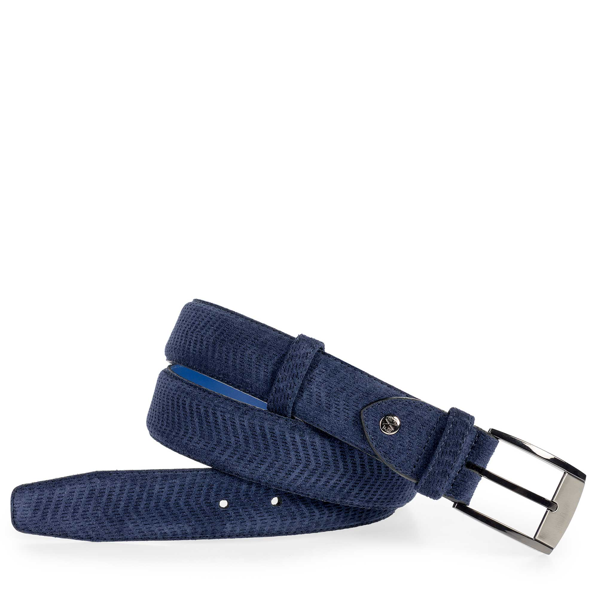 75180/07 - Blue suede leather belt