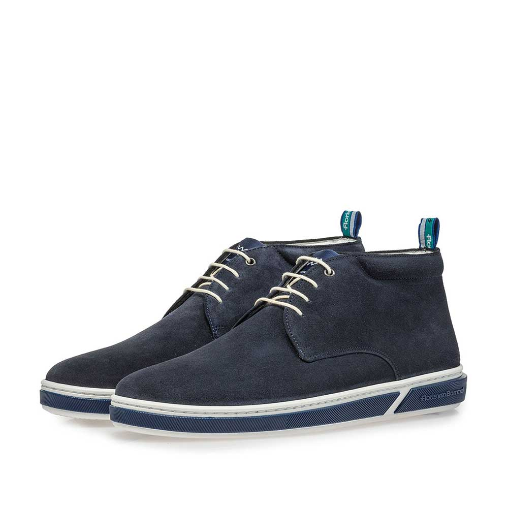 20350/01 - Dark blue suede leather lace boot
