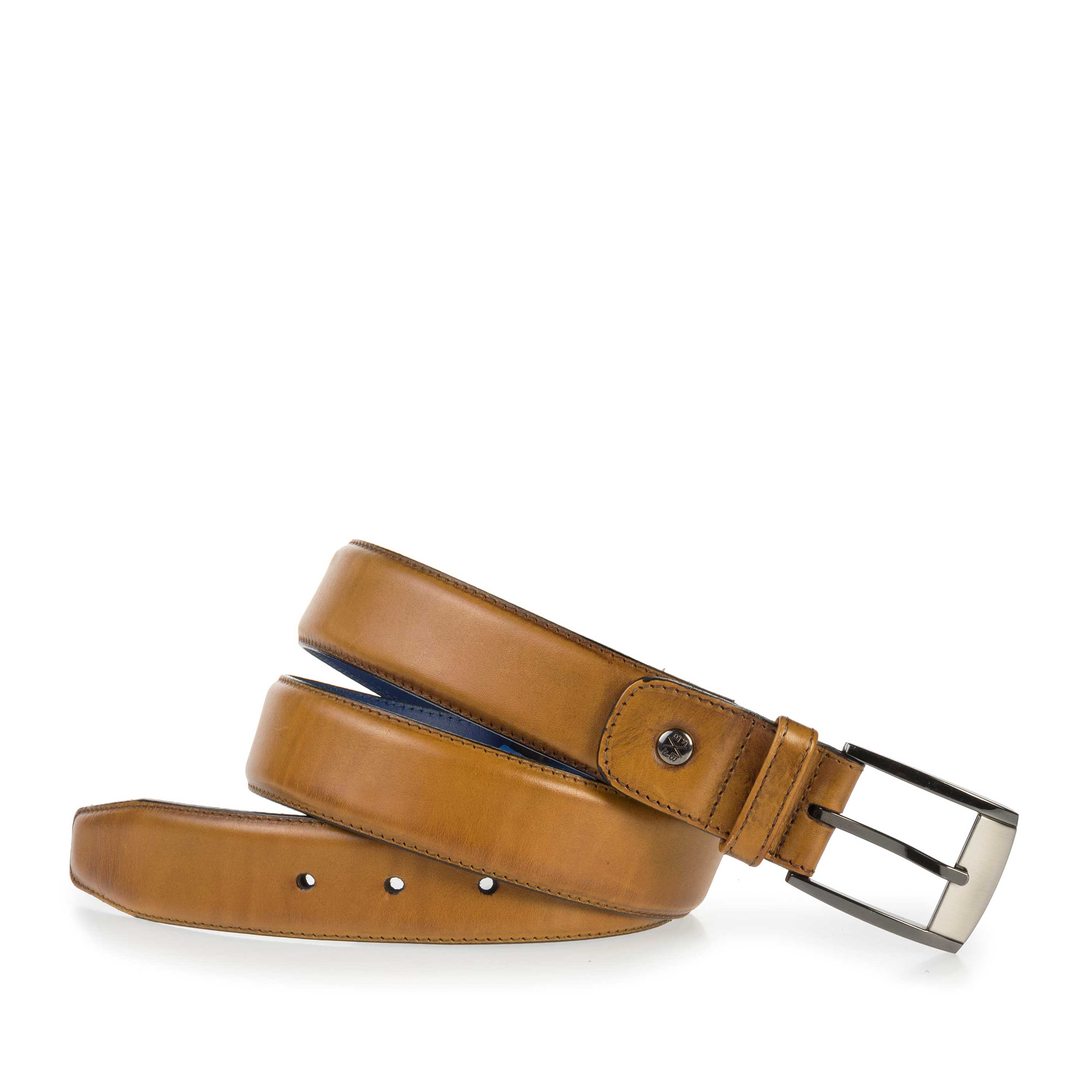 75183/02 - Cognac-coloured calf's leather belt