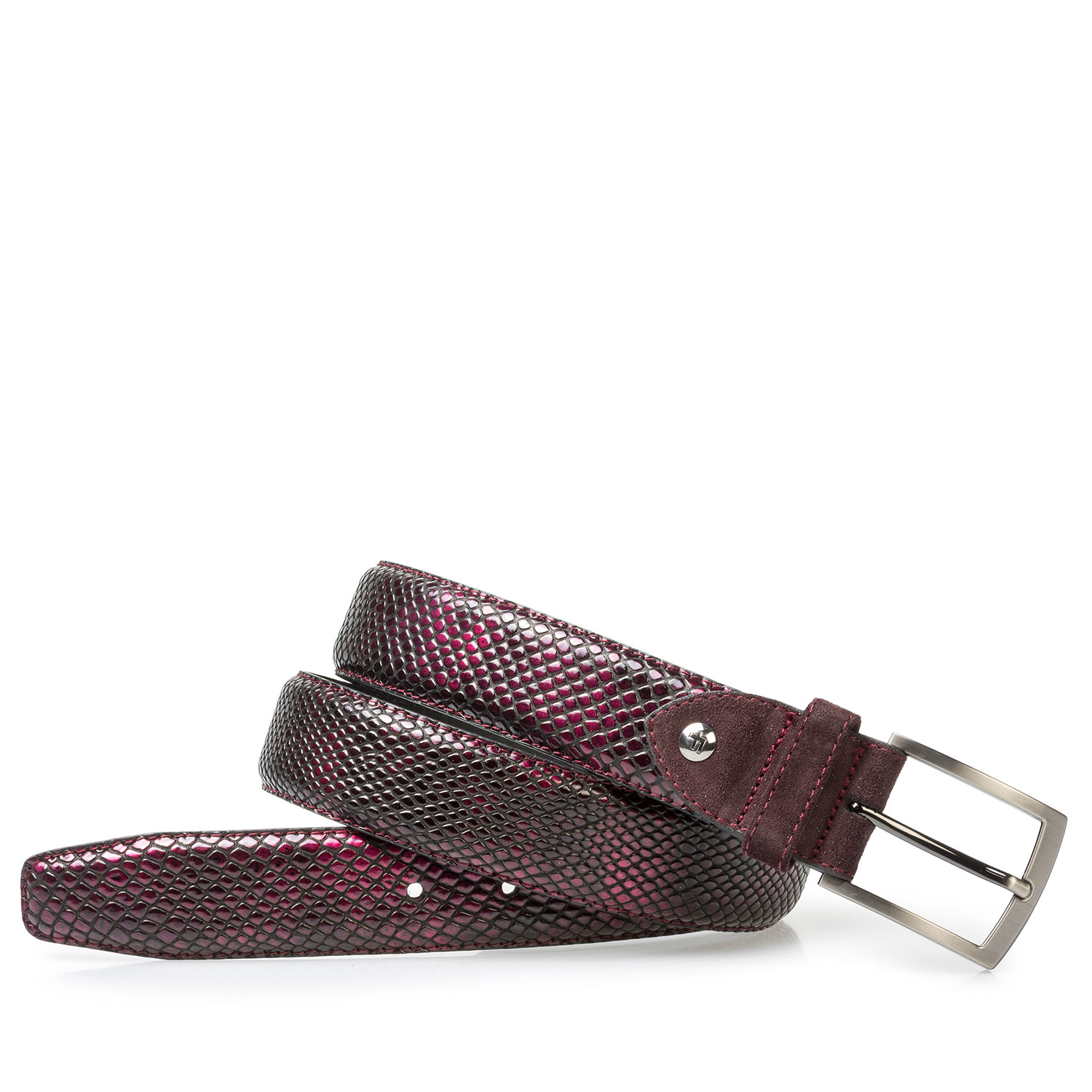 75212/00 - Red printed patent leather belt