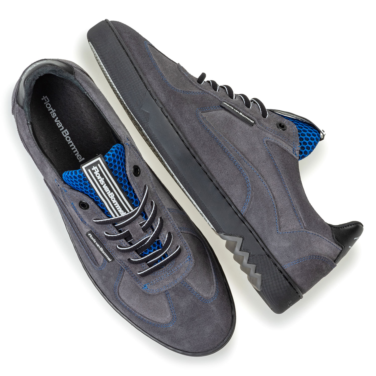 16342/45 - Sneaker grey suede leather