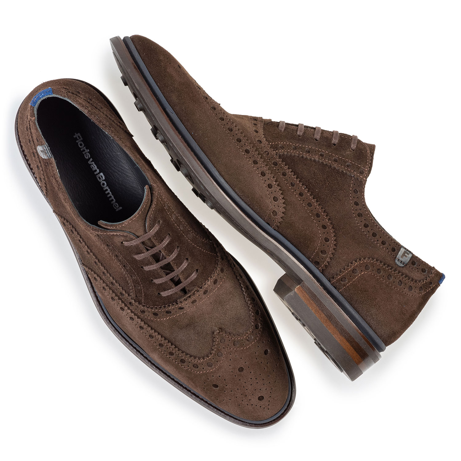 19172/02 - Brogue suede leather dark brown