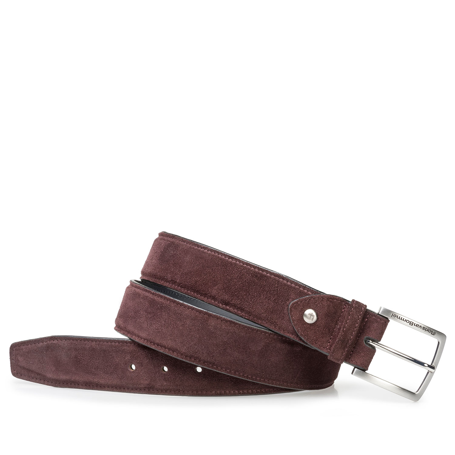 75202/05 - Ruby red suede leather belt