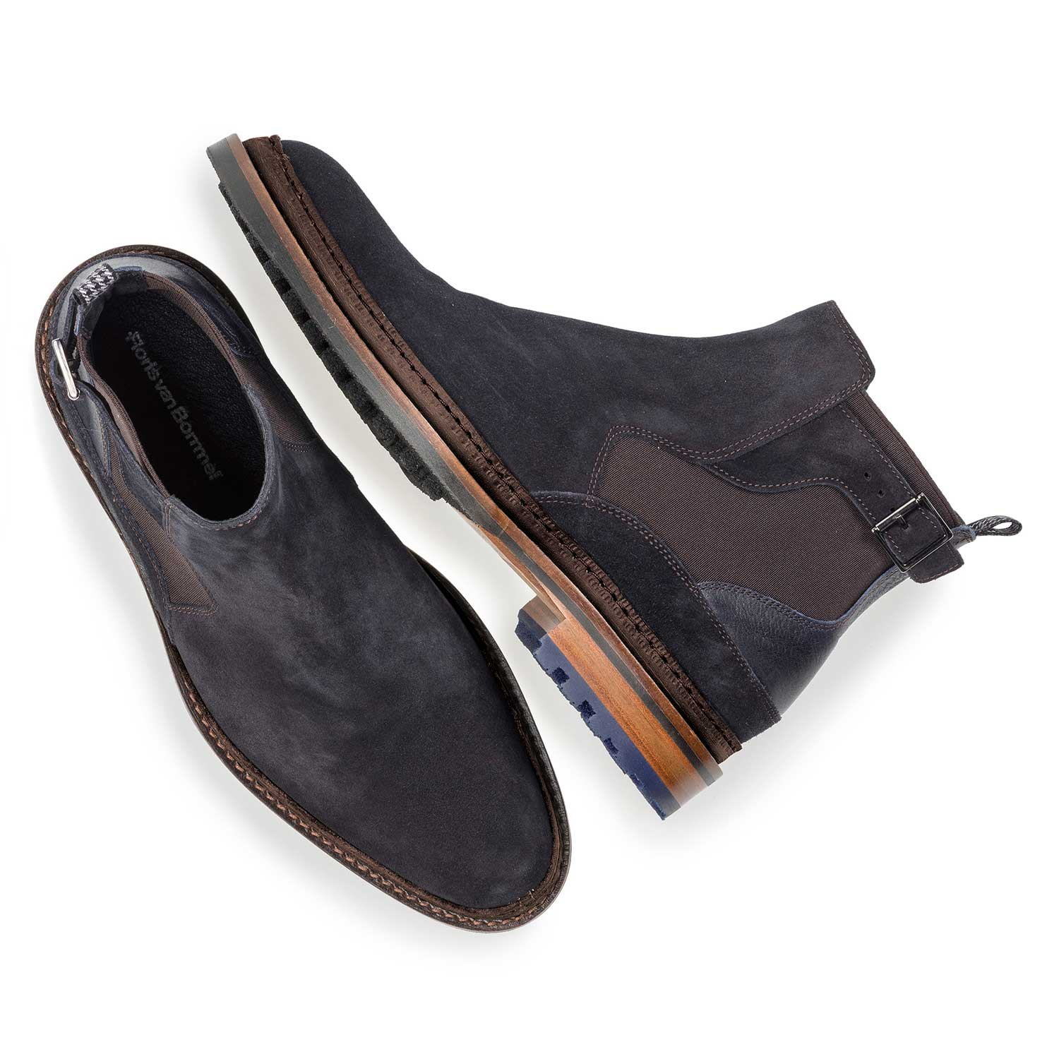 10529/05 - Dark blue suede Chelsea boot