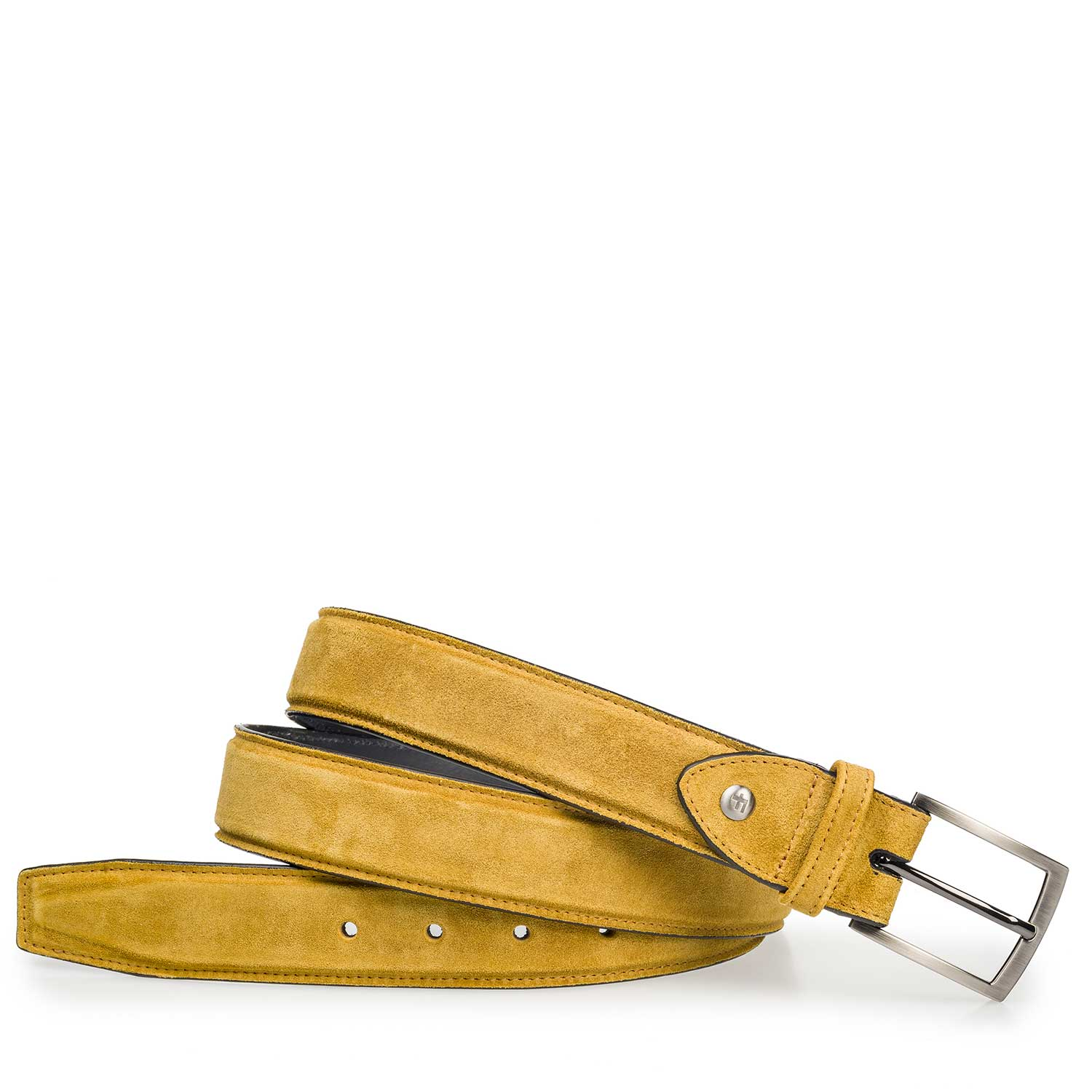 75200/40 - Lightly buffed, yellow suede leather belt