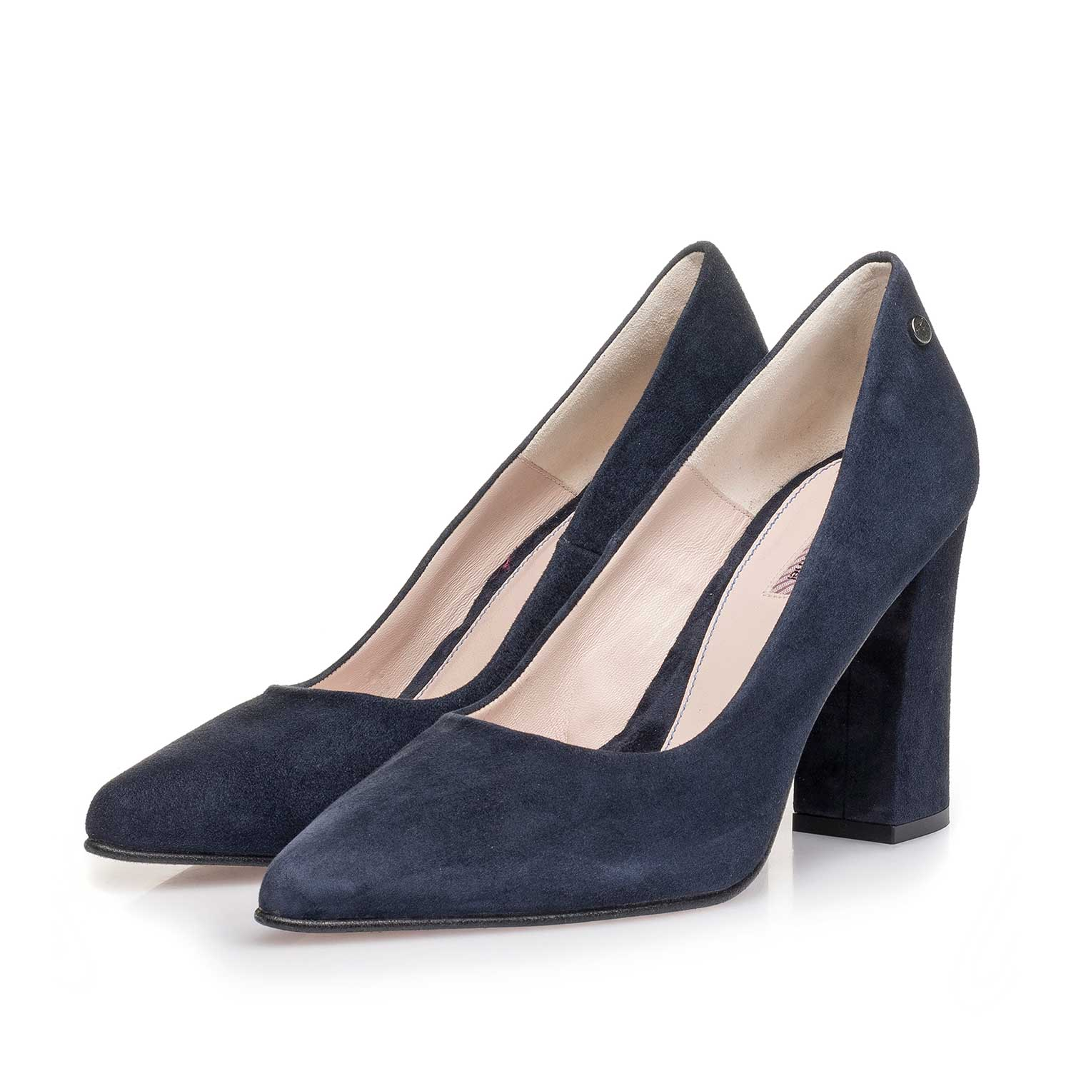 85519/10 - Dark blue suede leather pumps