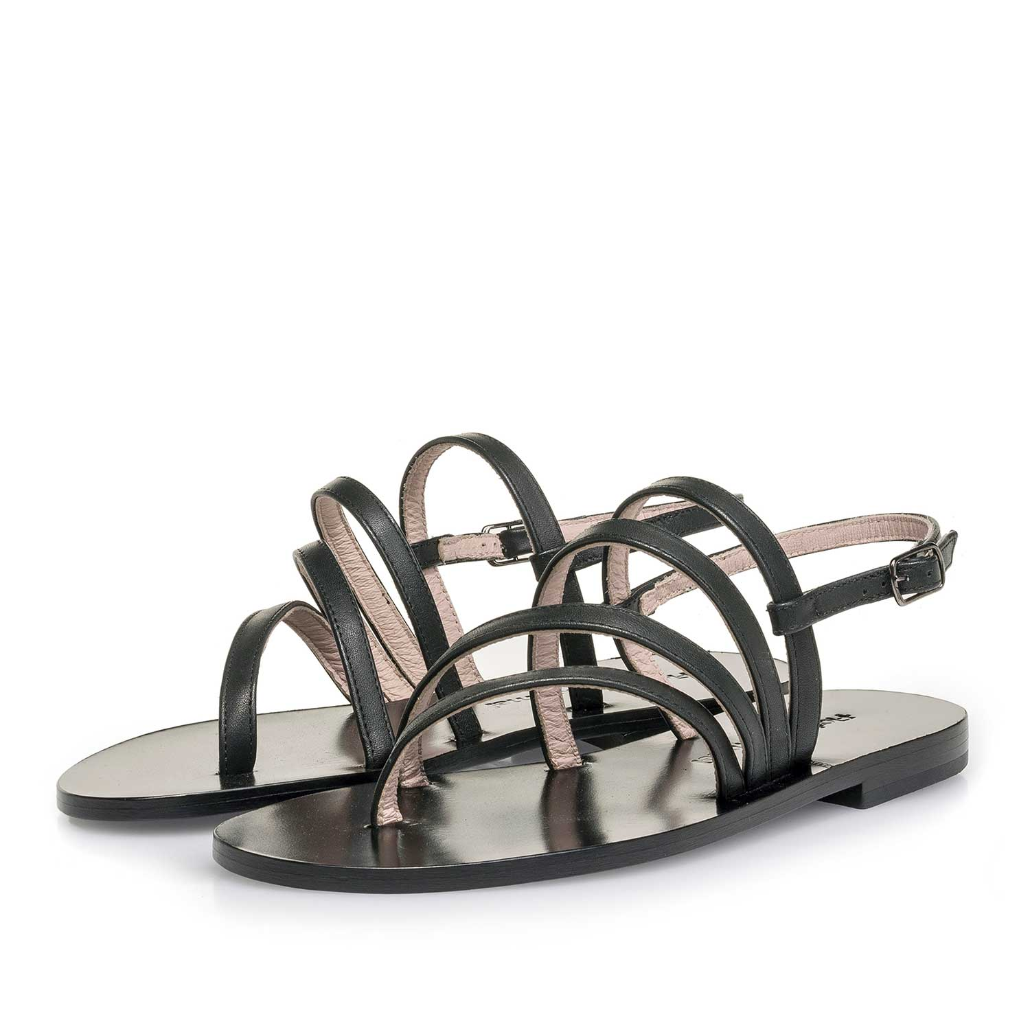 85905/00 - Black calf leather sandal