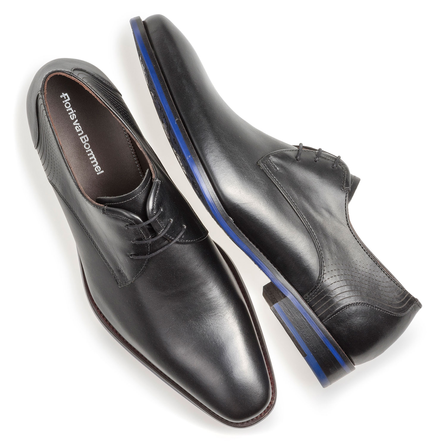 18493/01 - Black calf leather lace shoe