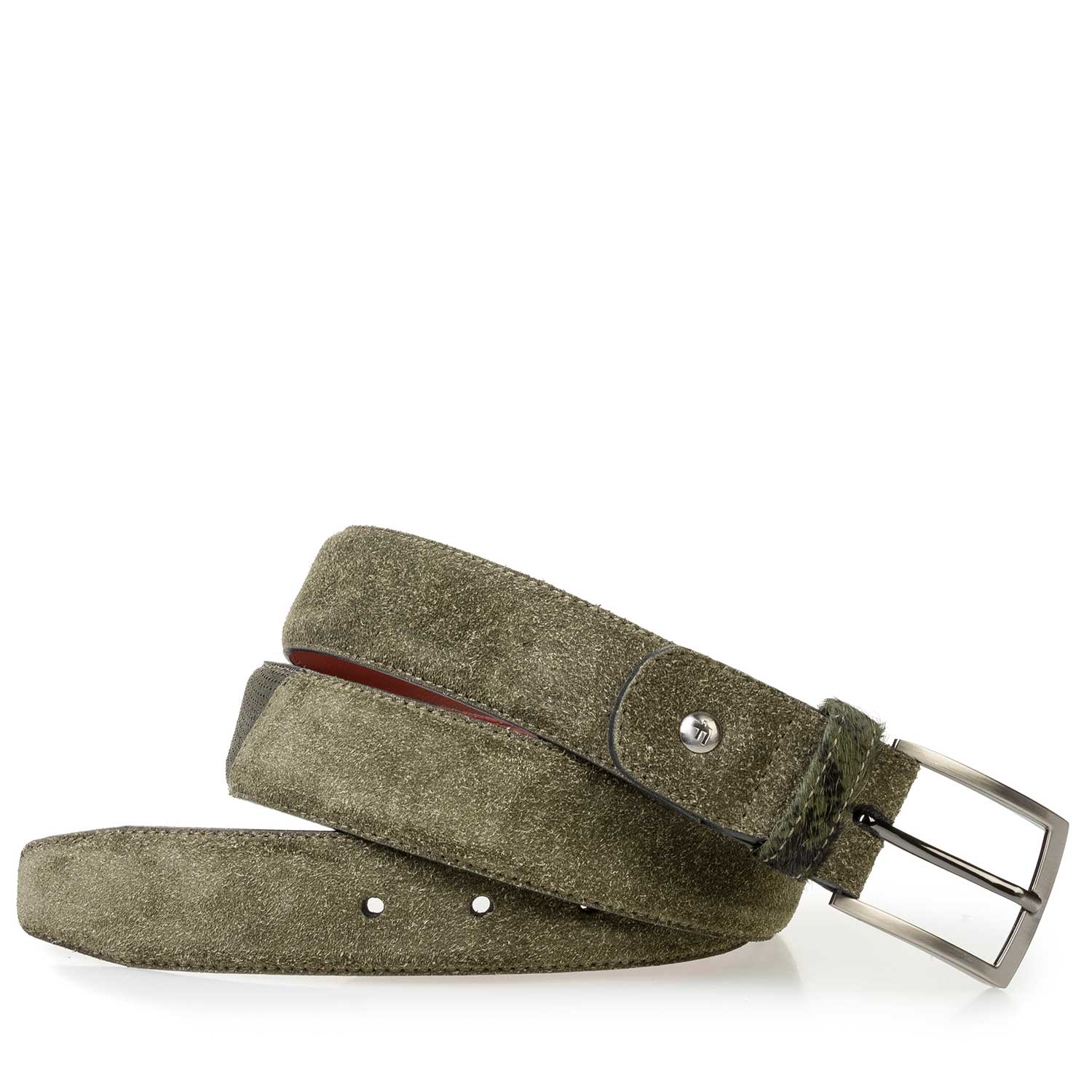 75188/28 - Green rough suede leather belt