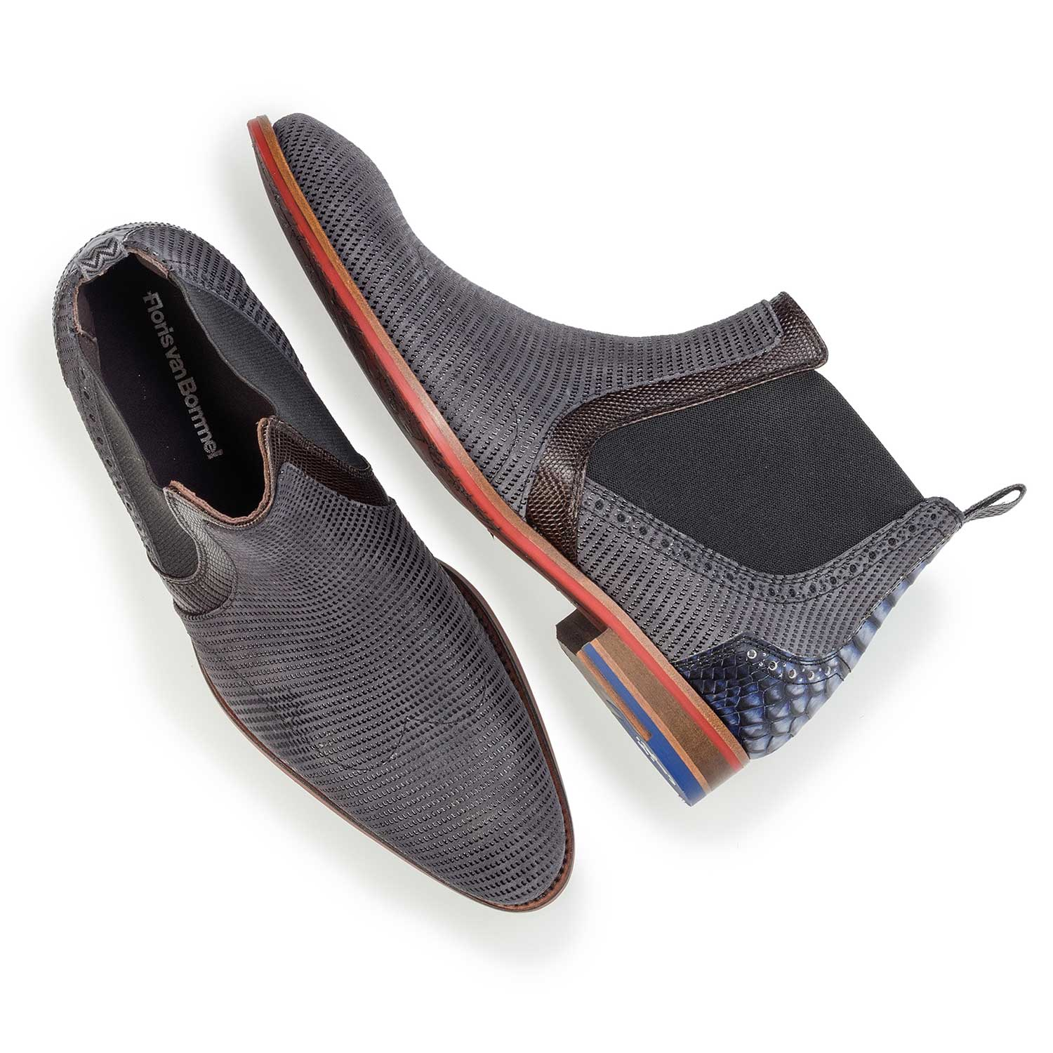 10455/00 - Dark grey suede leather Chelsea boot