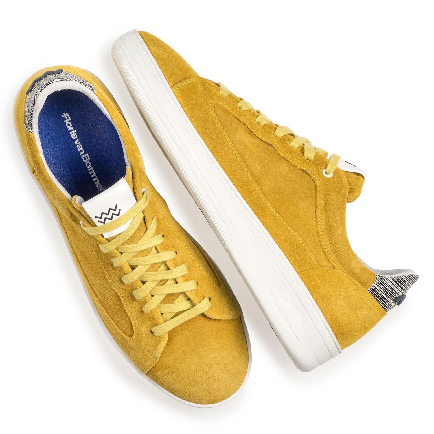 13265/02 - Yellow suede leather sneaker