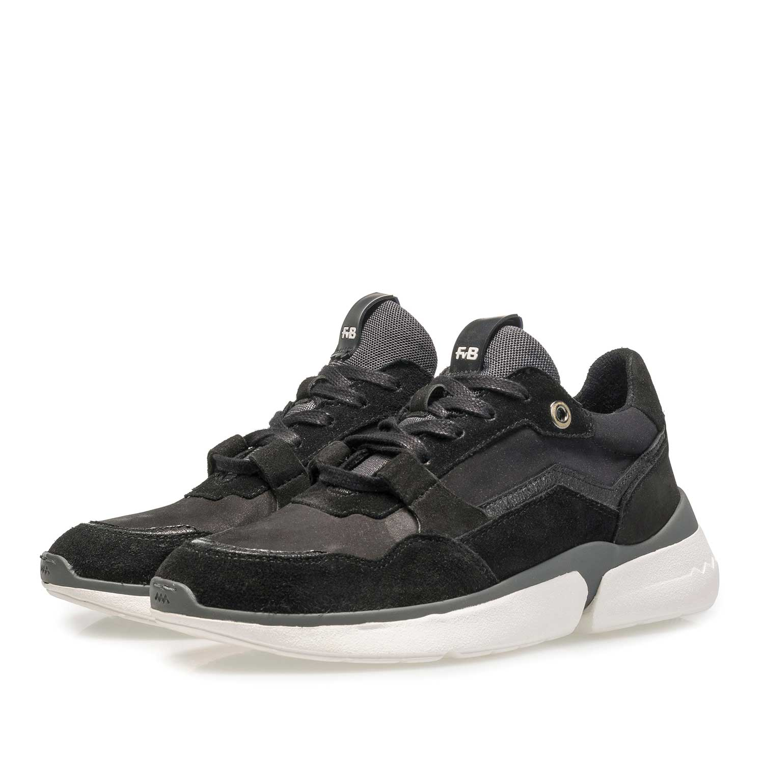 85291/04 - Black suede leather sneaker