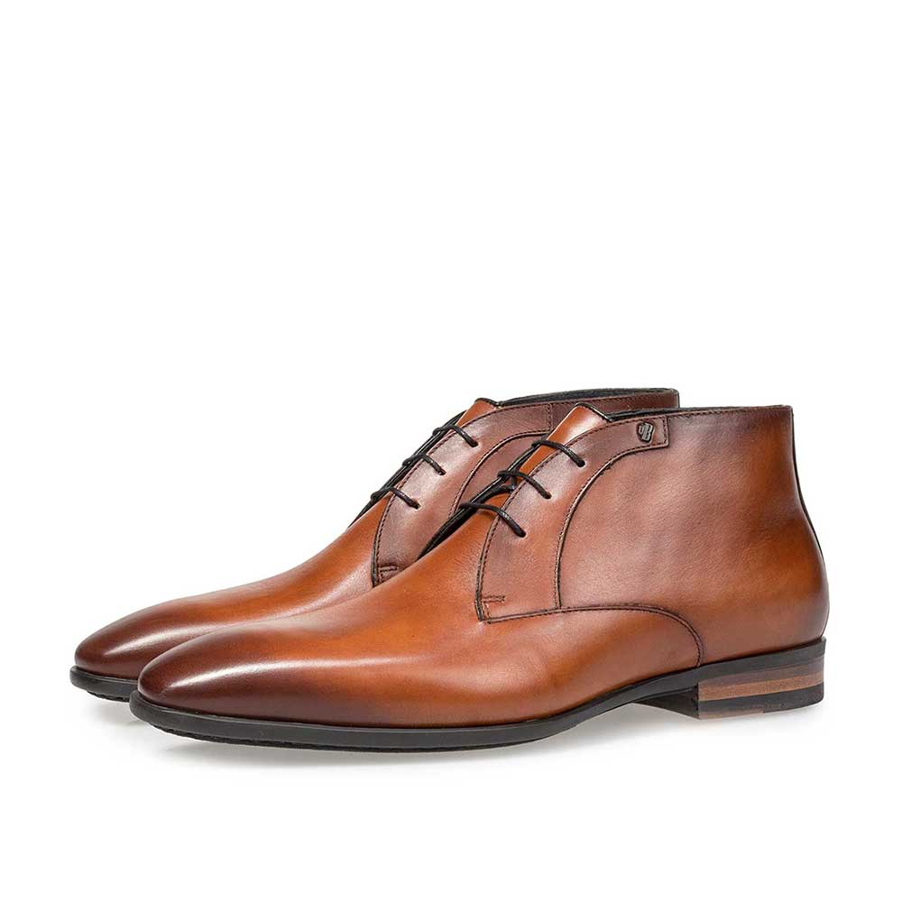 20057/04 - Cognac-coloured calf leather lace shoe