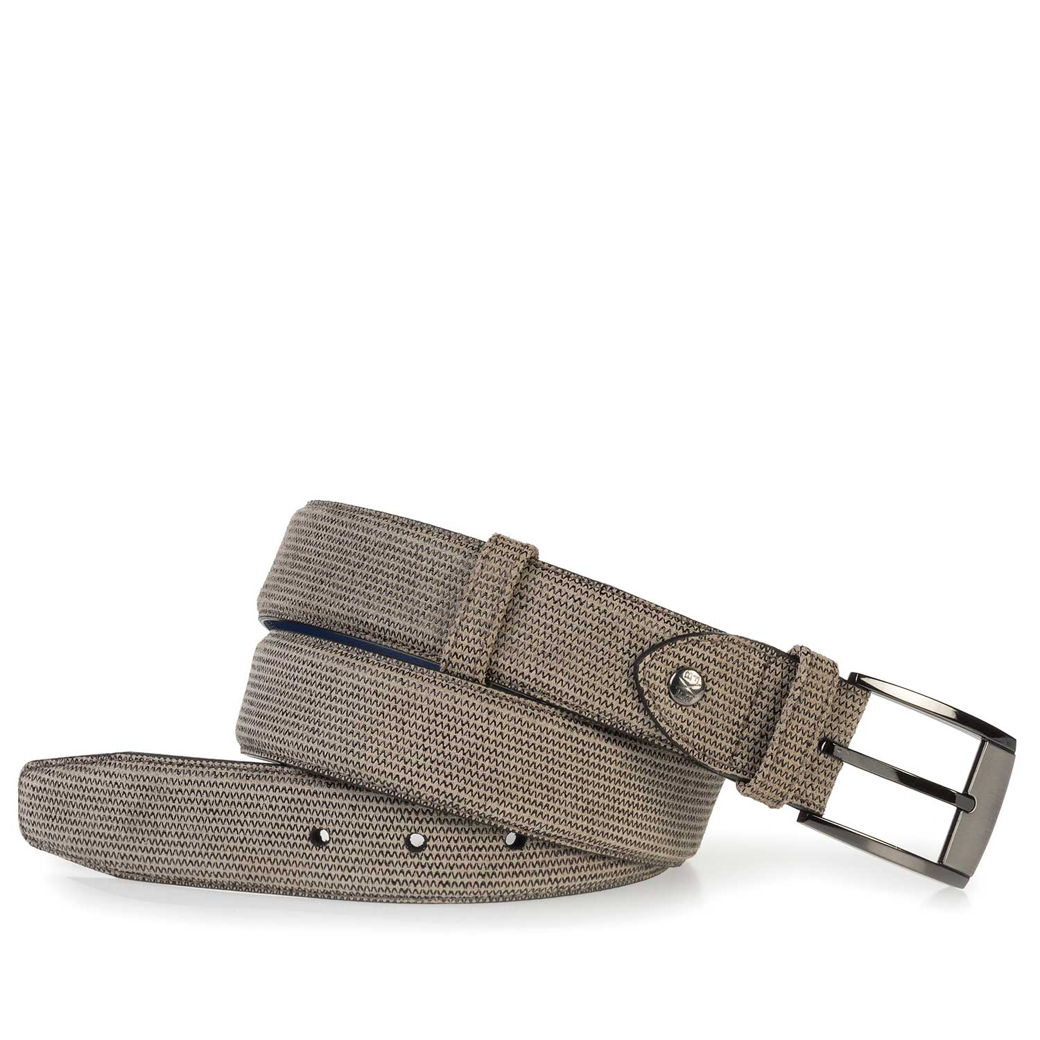 75180/21 - Sand-coloured suede leather belt