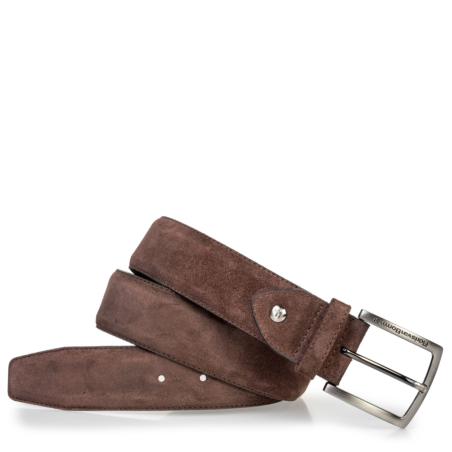 75202/97 - Suede leather belt dark brown