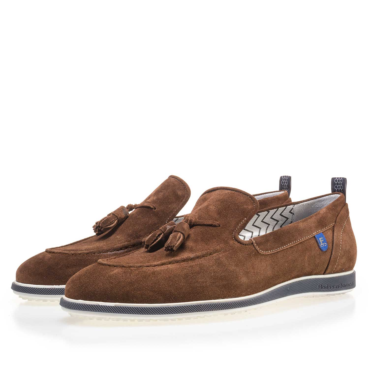11127/02 - Brown suede leather tassel loafer