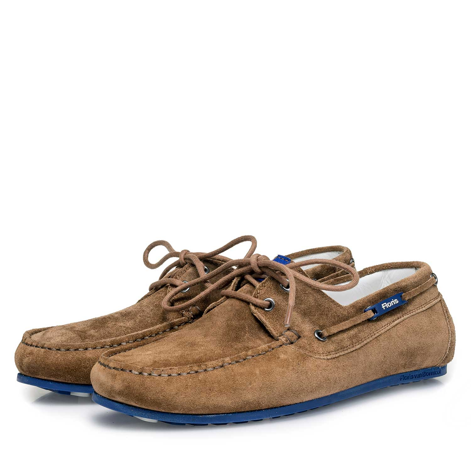 15035/09 - Brown slightly buffed suede leather sailing shoe