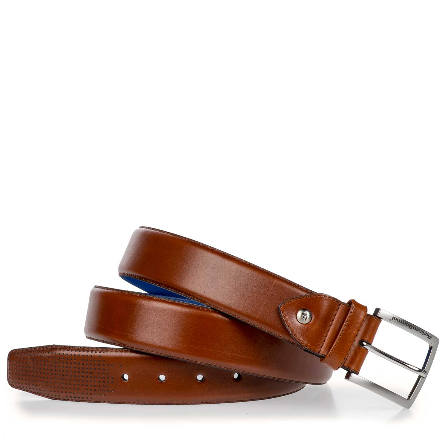 75187/01 - Cognac-coloured leather belt