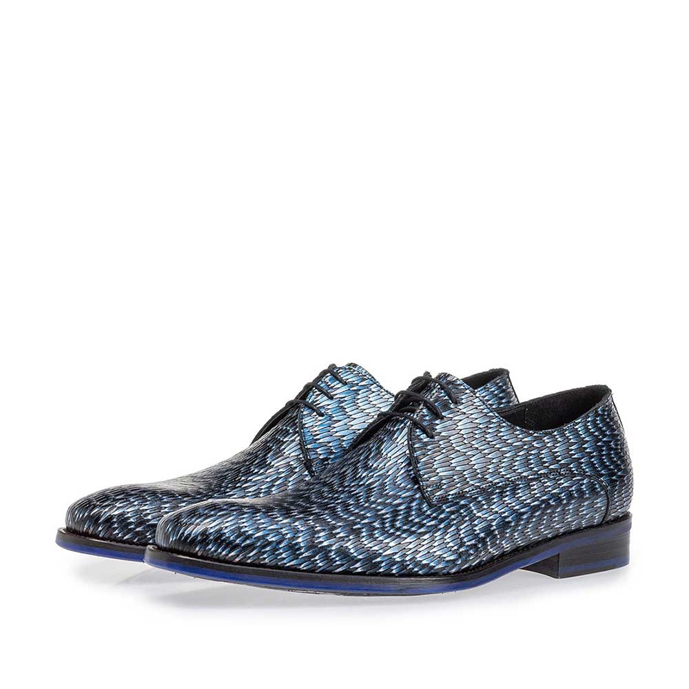 18159/25 - Lace shoe metallic blue
