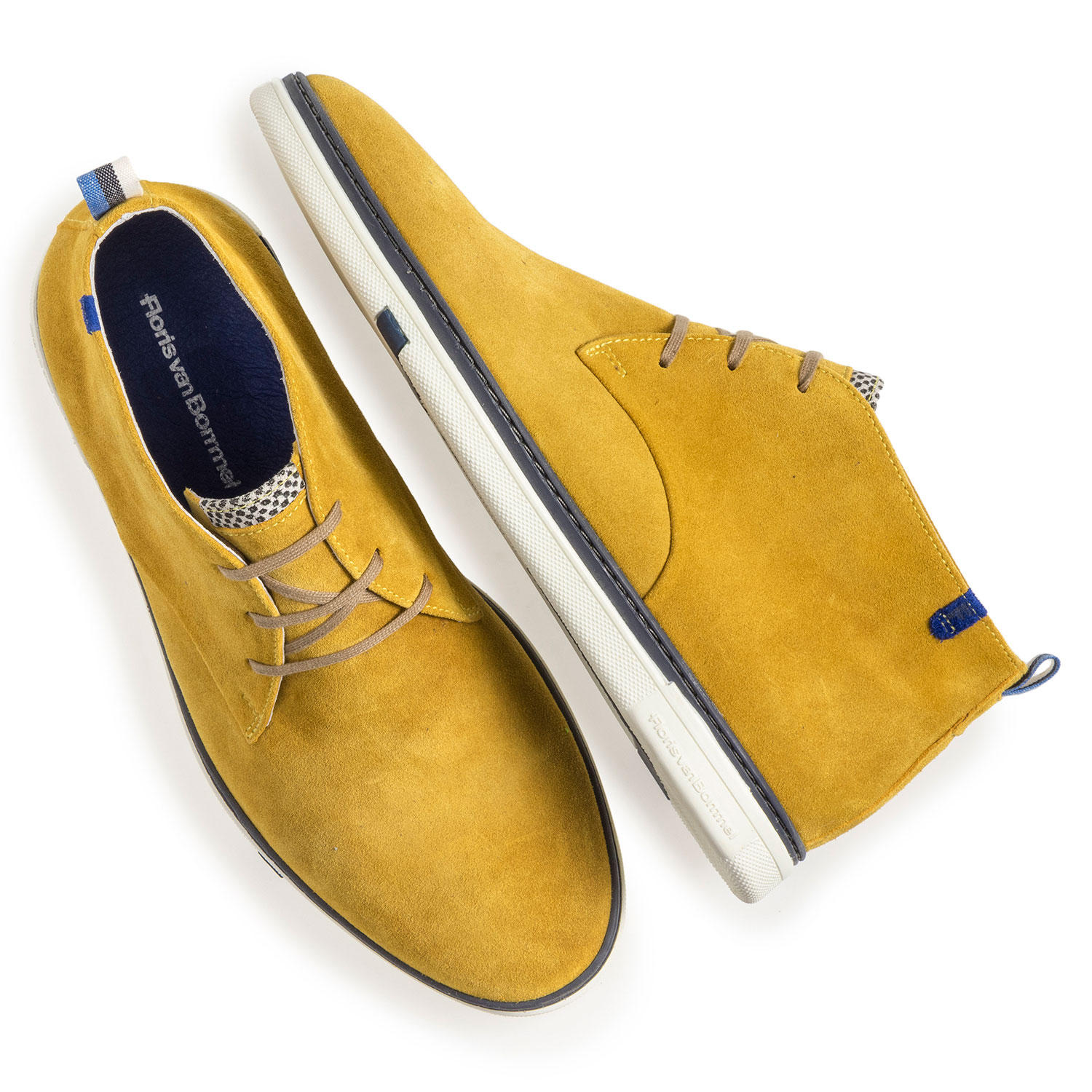 10502/12 - Yellow suede leather lace boot