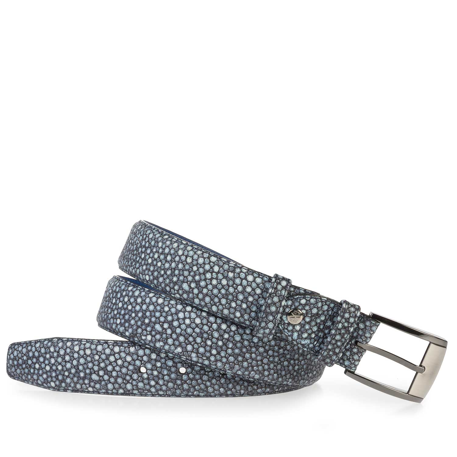 75180/13 - Blue, patterned leather belt