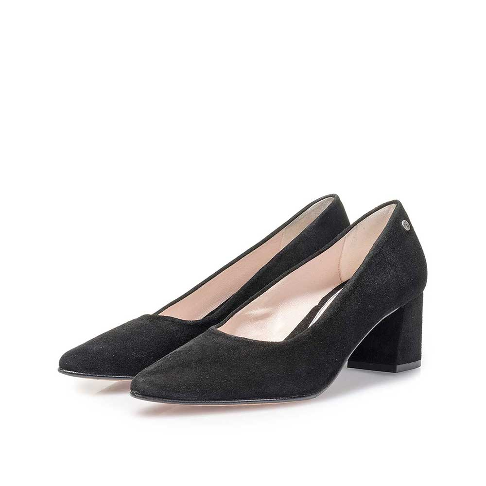 85518/08 - Black suede leather pumps
