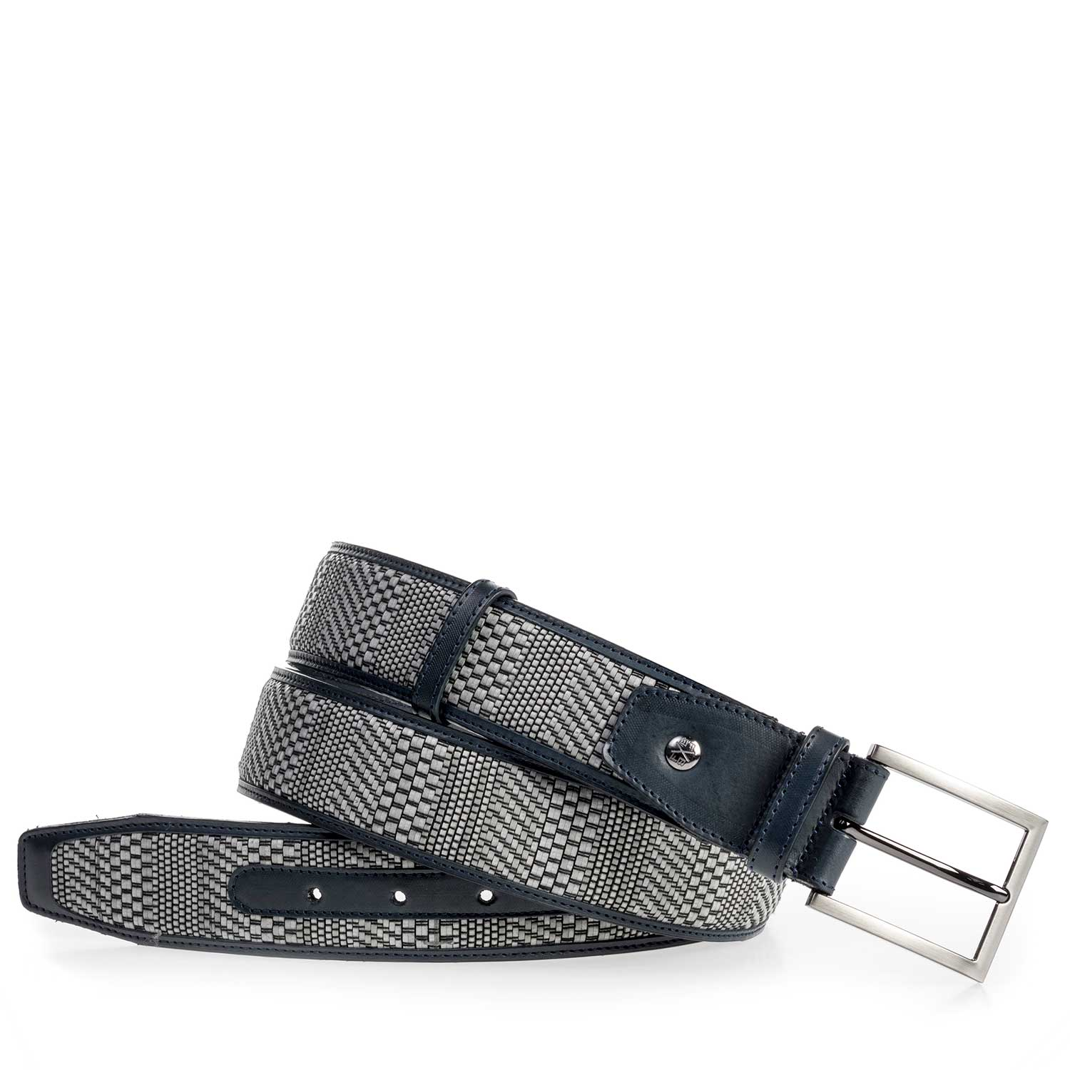 75159/12 - Grey belt made of braided leather