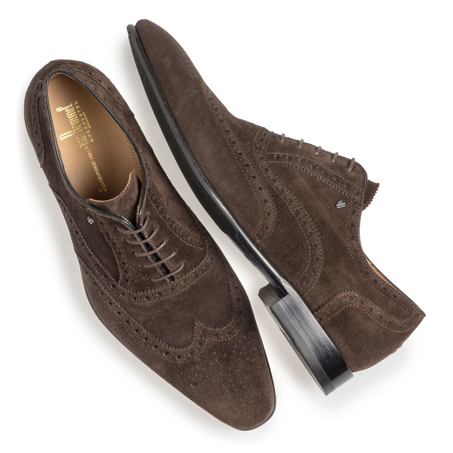 19295/01 - Dark brown suede leather brogue