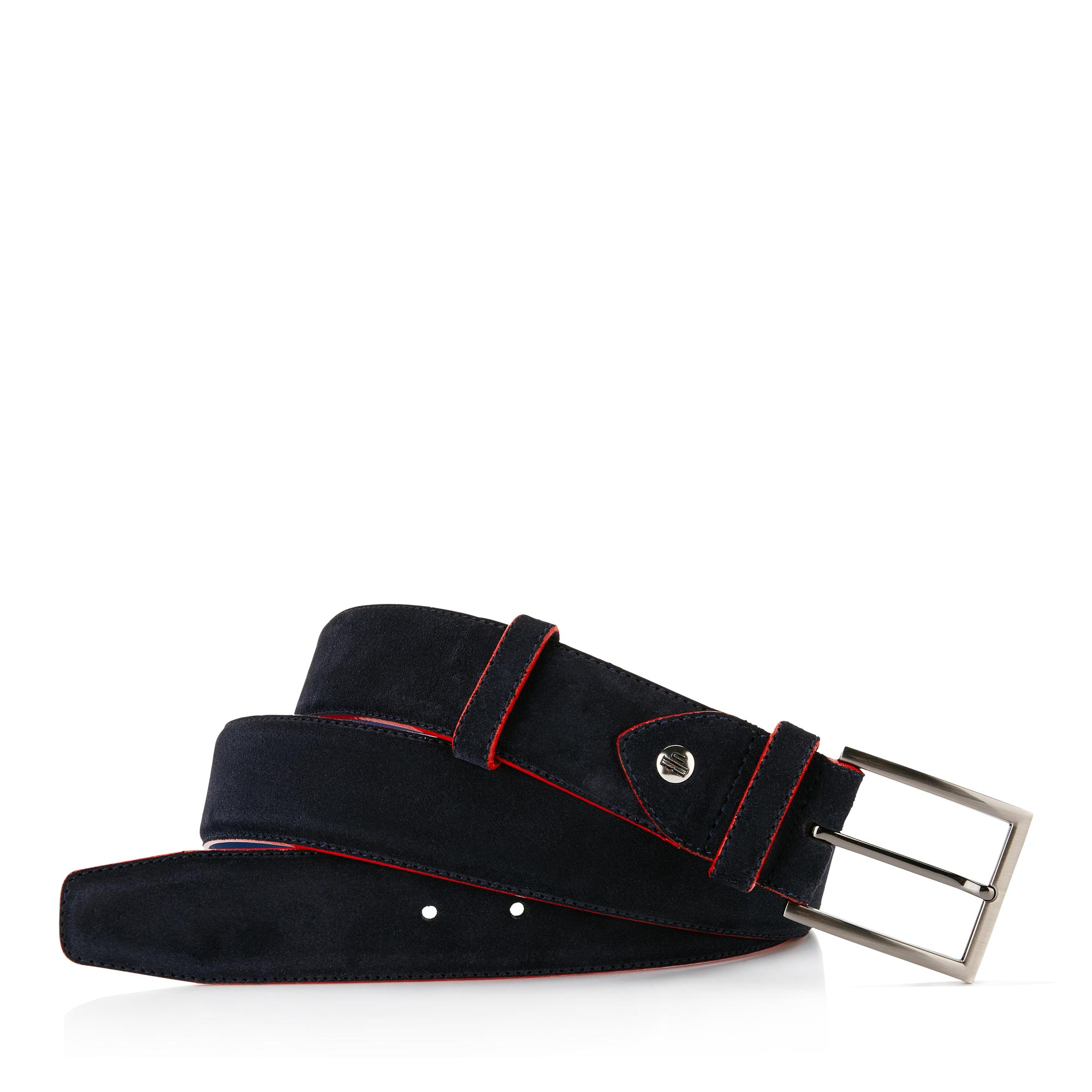 75037/09 - Floris van Bommel dark blue suede men's belt