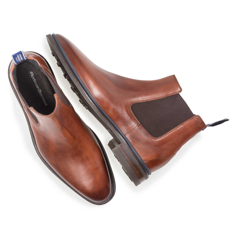 Cognac-coloured calf leather Chelsea