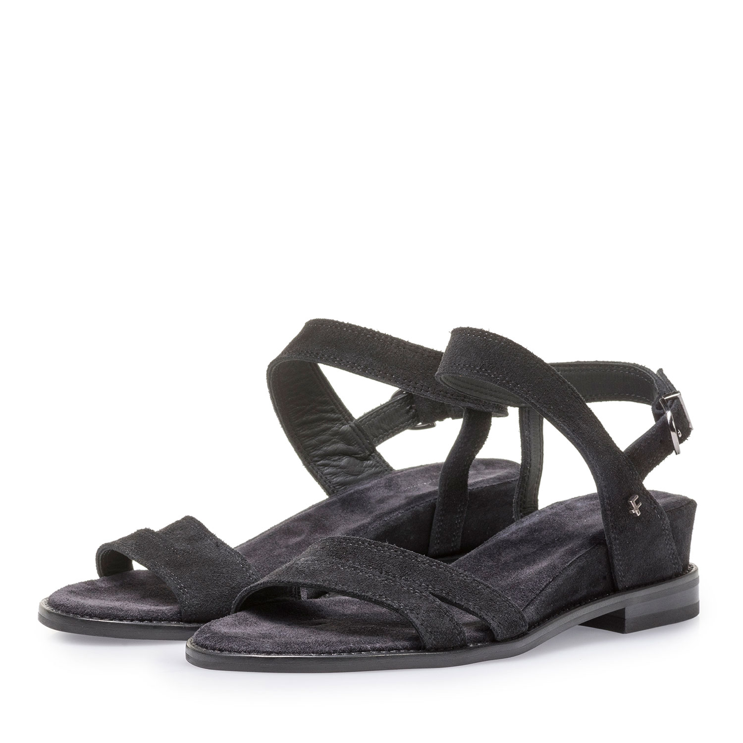 85931/00 - Black suede leather sandals