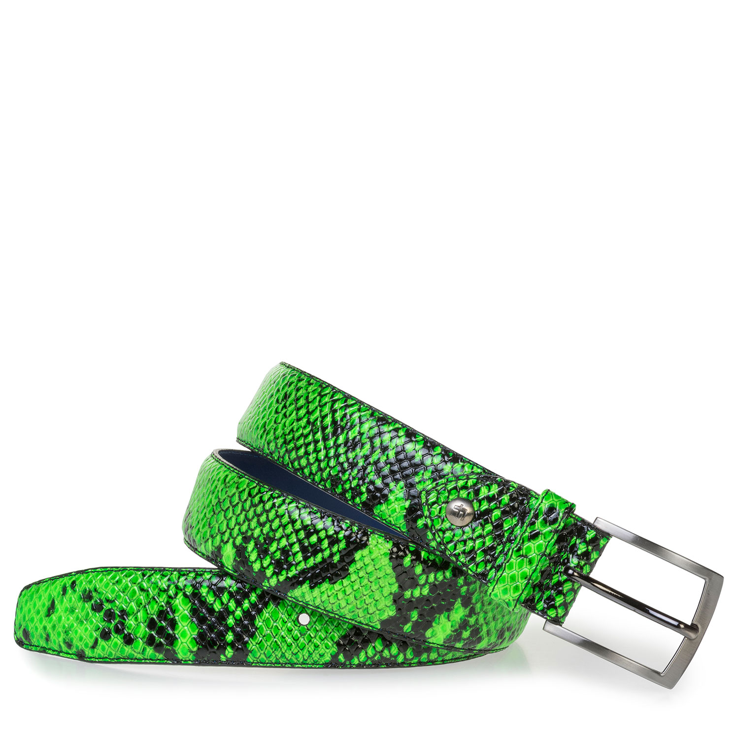 75201/60 - Premium fluorescent green belt with snake print