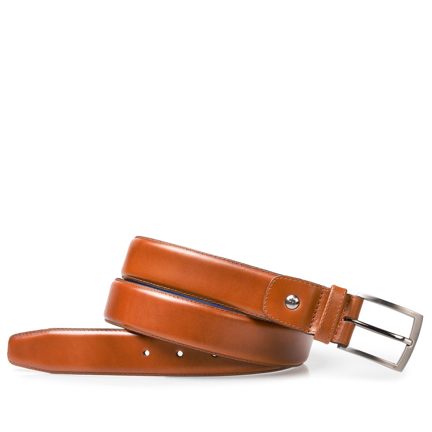 75046/02 - Cognac-coloured leather belt