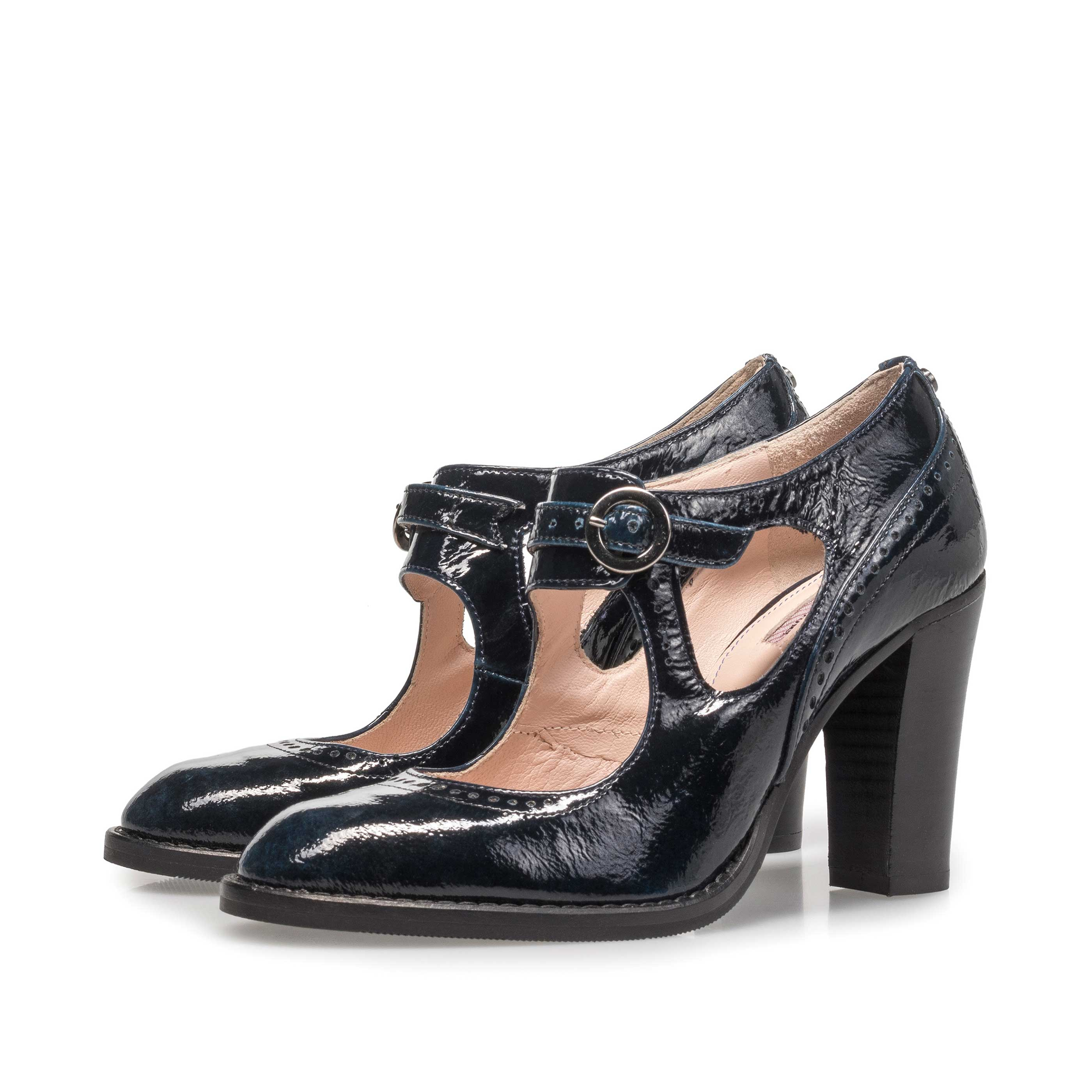 85532/01 - Blue patent leather pumps