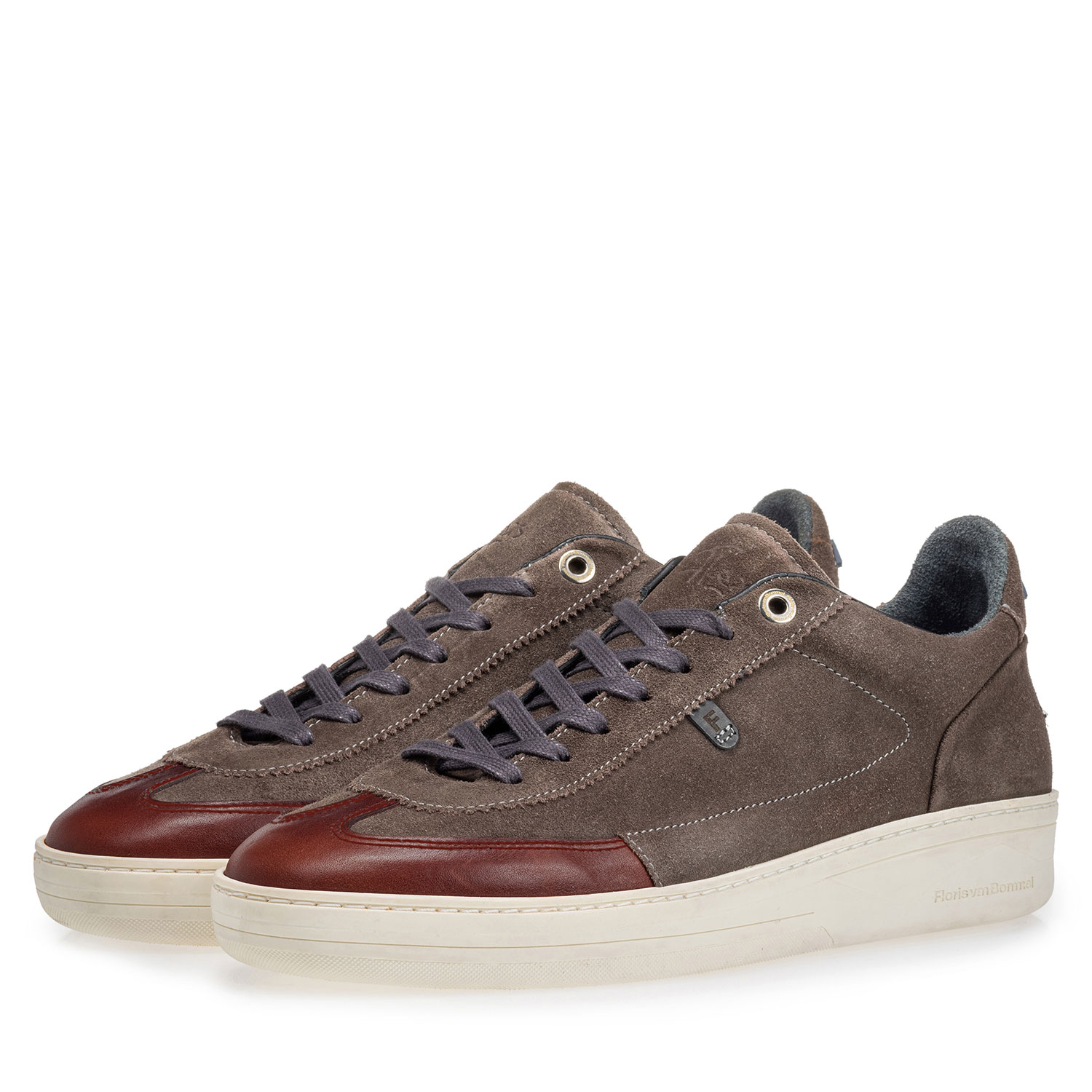 16267/07 - Sneaker suede leather dark taupe