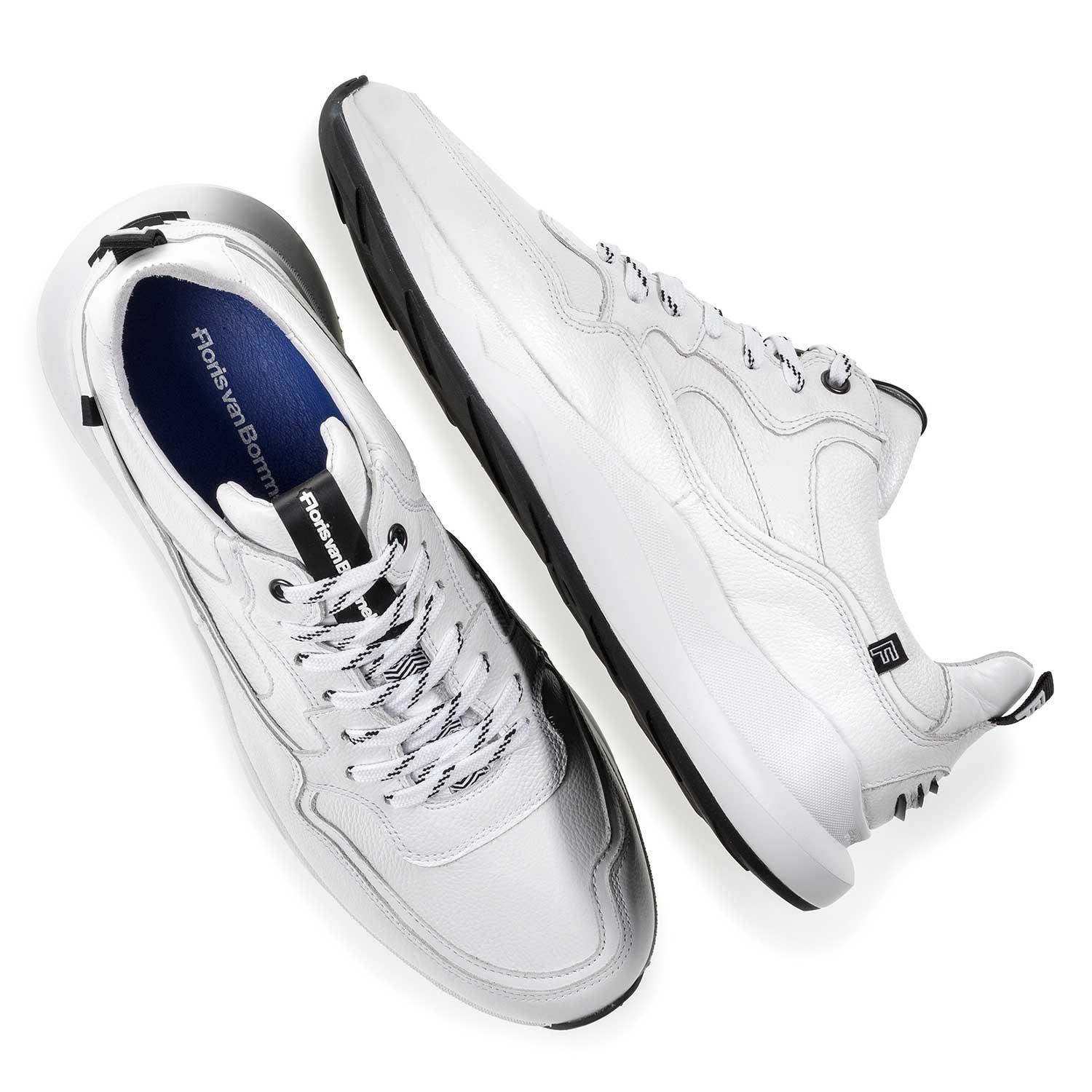 16269/01 - White calf leather sneaker with fine texture