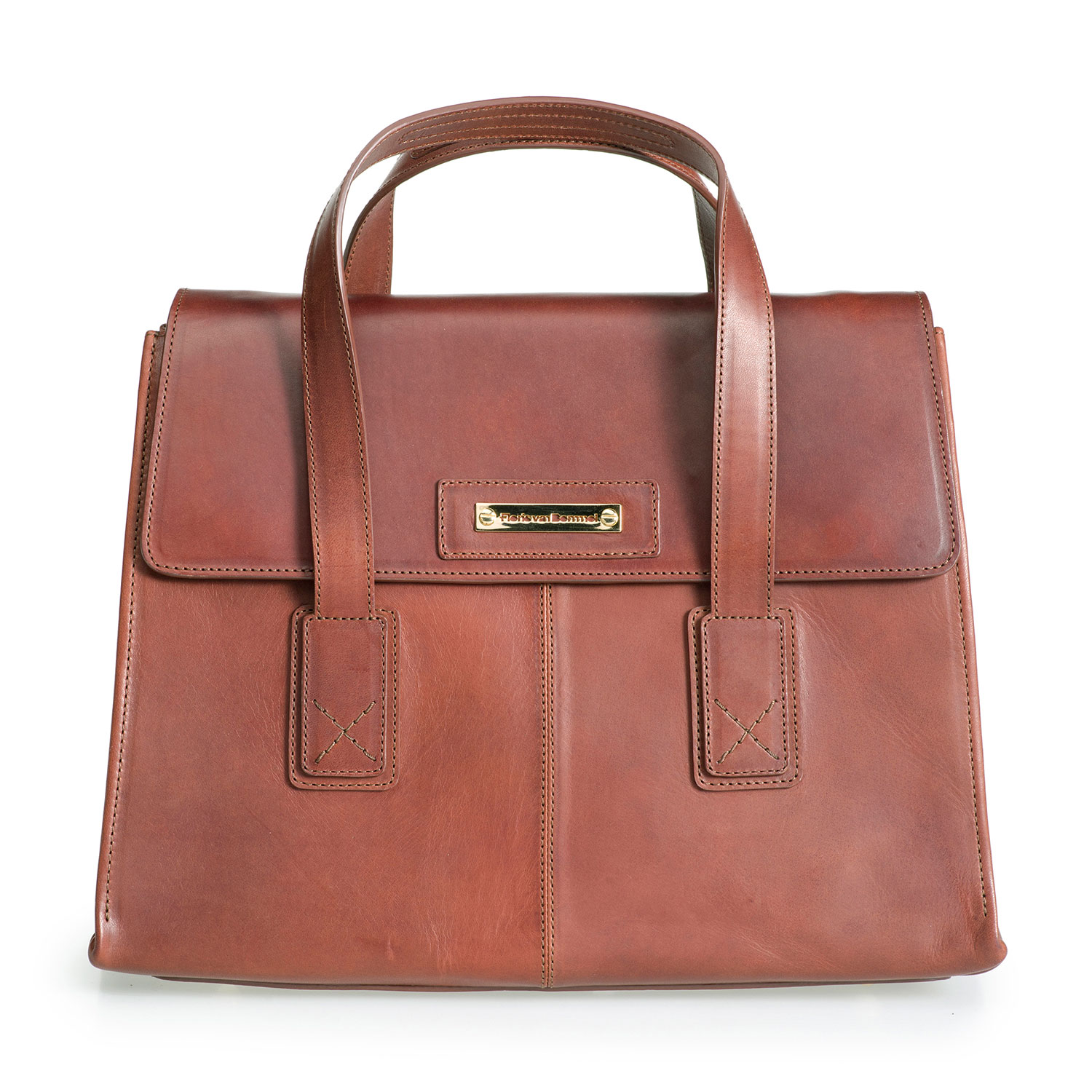 89009/01 - Brown leather business bag