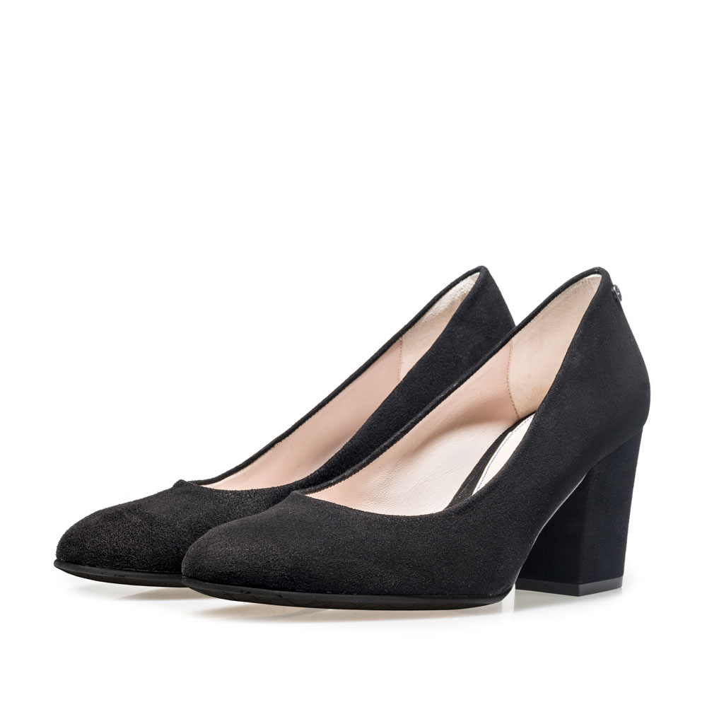 85520/03 - Black suede leather pumps